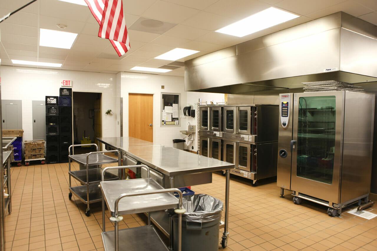 Sunset junior high school kitchen and cafeteria renovation for School kitchen designs