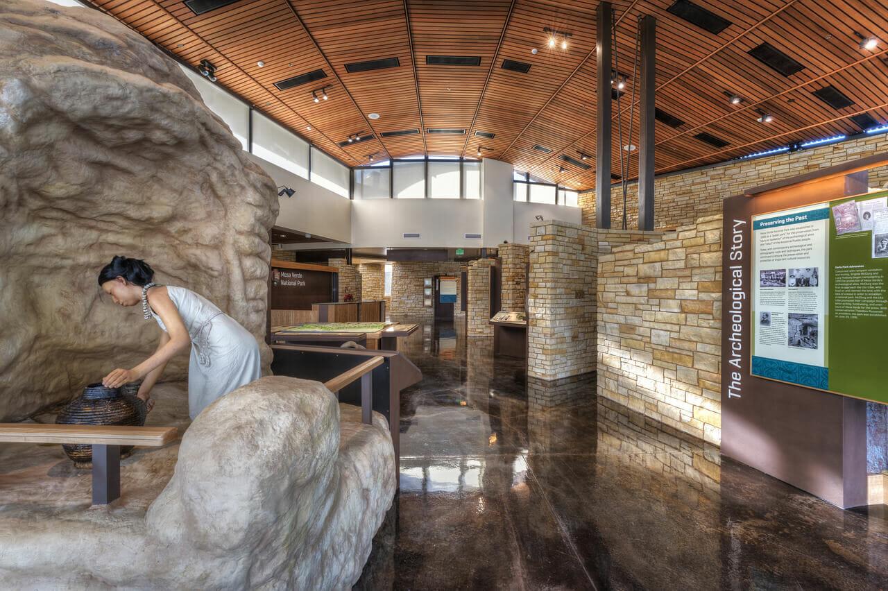 National Park Service Mesa Verde National Park Visitor And Education Center on Higher Education Interior Design