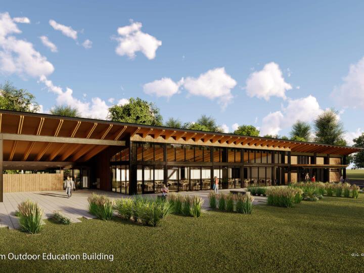 Wheeler Farm Breaks Ground on New Outdoor Education Center